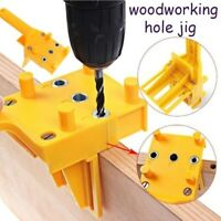 Handheld Woodworking Guide Jig Drill Bits Wood Doweling Drilling Hole Saw Tool