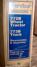 CAT Caterpillar 772B Wheel Tractor & 773B Truck, Service Manual S/N# 63W 64W
