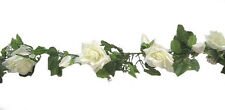 IVORY CREAM Rose Garland ~ Silk Wedding Flowers ~ Arch Gazebo Decoration Vines