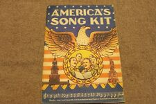 "Original Early WW2 U.S. GI's ""America's Song Kit"" Book, 1941 dated"