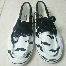 NWT Mustache slip ons/boat shoes