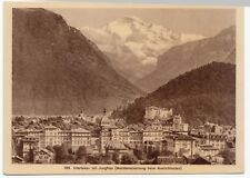Switzerland; Interlaken & The Jungfrau Hold To Light Novelty PPC, Unposted