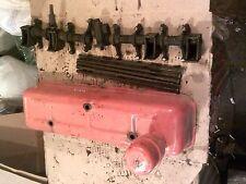 1952 Case VAC tractor engine motor rocker arm valve cover & push rods