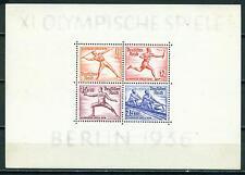Germany Olympic Games Souvenir Sheet 1936 MH B92 CV$100