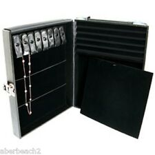 Multi Purpose Attache Locking Jewelry Display Storage Case