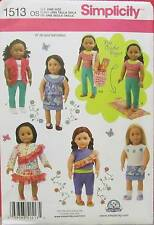 New Pattern 1513 Doll Clothes Shirts Pants Skirt Bag fit 18 inch American Girl