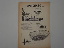 advertising Pubblicità 1956 CESTINO ALFRA ALESSI