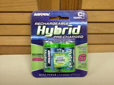NEW! Rayovac HYBRID Low-Discharge NiMH C Batteries, 1.2V 3000mAh - sealed 2-pack