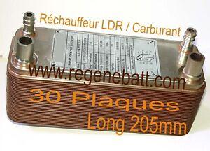 Rechauffeur Echangeur Thermique 30 Plaques Inox hvb L205mm