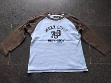 🚙 MEXX Marken Jungen Sweatshirt Gr.7/8Y 122 128 hellblau braun Baumwolle
