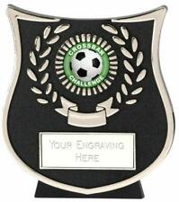 Emblems-Gifts Curve Silver Crossbar Challenge Plaque Trophy With Free Engraving
