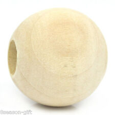 """20PCs Wood Spacer Beads Round Ball Natural 25mm Dia.(1"""")"""