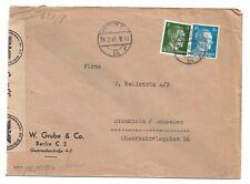 Auslandsbrief  Berlin NO 18 28.2.45 nach  Schweden OKW Zensur