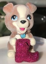 Puppy in My Pocket Barbie Exclusive: Border Collie with a Glitter Boot
