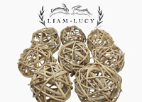 8 Liam & Lucy's All Natural Willow Chew Balls For Rabbits Guinea Pigs Chinchilas