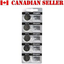 5 NEW Energizer CR1632 ECR1632 DL 1632 Batteries Battery Manufactured: Sep 2016