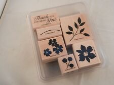 """Stampin' Up! """"New"""" Set Of 6 Stamps 2006 - Best Blossoms"""