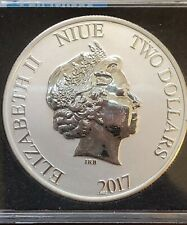 2017 Elizabeth II Mickey Mouse ( Steam Boat Willy) $2 Silver Coin Disney
