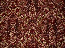 Mill Creek Raymond Waites ASHANTI WINE Paisley Medallion Cotton Drapery Fabric