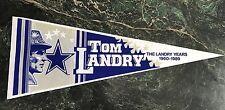 TOM LANDRY DALLAS COWBOYS PENNANT
