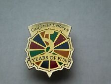 "VINTAGE 1 1/8"" HIGH  1990 CALIFORNIA STATE LOTTERY  5 YEARS OF FUN PIN"