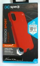 Speck - Presidio SPORT Case for Apple iPhone X and XS - Black/Poppy Red