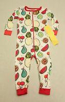 Lamaze by Kitex Baby Girl's Fruit Print One-Piece Pajamas CD4 White Size 12M NWT
