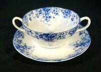 Beautiful Royal Albert Dainty Blue Cream Soup Bowl