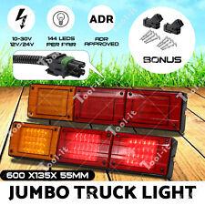 2x NEW JUMBO 12V/24V 72 LED Trailer Tail Light Indicator Lamp For Caravan Truck