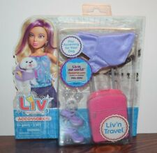2010 Spinmaster LIV Fashion Doll ACCESSORY PACK LIV'N TRAVEL Luggage Suitcase