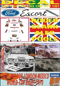 DECAL FORD ESCORT TWIN CAM R. CLARK R.LONDON-MEXICO 1970 DnF (06)