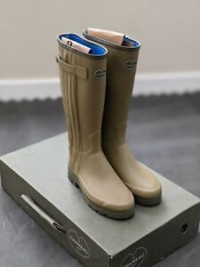 Le Chameau Chasseur Neo Wellingtons Neoprene Wellies with Full Zip Size 9