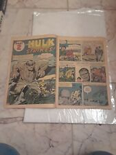 1962 Incredible Hulk # 1 Coverless Incomplete Original issue.