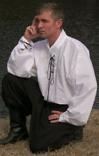 Pirate/Renaissance Men's Shirts with stand up collar and ties