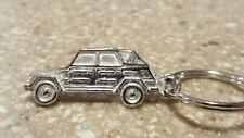 VINTAGE NOS VOLKSWAGEN VW THING TYPE 181 Flat Keychain Key Fob Key ring Silver