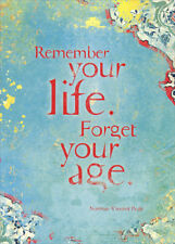 Remember Your Life Norman Vincent Peale Quote Tree-Free Greetings Birthday Card