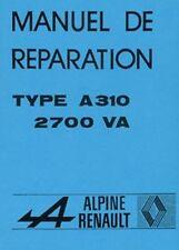 Renault Alpine A310 1977 Manual del taller coche de papel libro de texto en francés