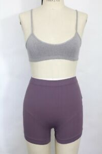 New Free People Womens Biker Shorts Stretchy Active Wear Ribbed Mauve Xs/S $30