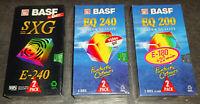 2 Pack BASF EQ 200/240 SXG E-240 VHS Video Kassette SEALED NEU & OVP TOP