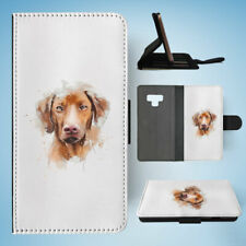SAMSUNG GALAXY NOTE 9 FLIP CASE WALLET COVER|WATERCOLOUR DOG ART #2