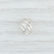 New Authentic Pandora Feathered Clip Charm - 791752 Sterling Silver Bead