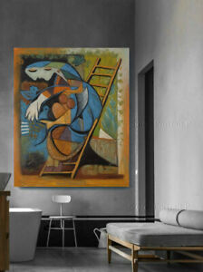 Pablo Picasso Oil Painting The Tragedy Hand-Painted Art Large on Canvas 40x48in
