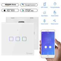 Sonoff 1/2/3 Gang Smart WiFi UK Panel Touch Wall Light Remote Control Switch