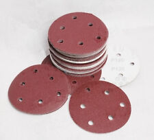 100pcs 125mm Sandpaper 6 Hole for Wood Grinding Grits 60-600 Sanding Disks Paper