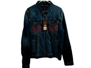 True Religion Manchester United $269 Men's Embroidered  Denim Jacket -101665 XL