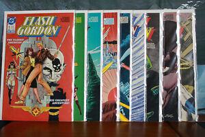 Flash Gordon Complete Comic Series issues 1-9 DC Comics 1988
