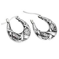 3.50gms Hoop Solid 925 Sterling Silver Earrings Jewelry