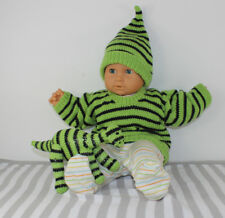 Explications tricot-Bébé à Rayures Pull, Lutin Chapeau & DINOSAURE Knitting Pattern