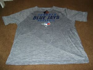 Toronto Blue Jays MLB Men's Size XL Short Sleeve Shirt New With Tags Gray