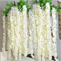 1PC 120cm Artificial Wisteria Hanging Flower Silk Vine Garland Wedding Decor